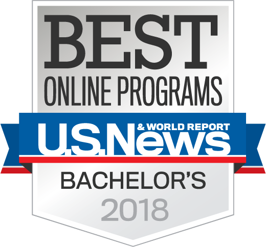 Best Online Programs from US News badge